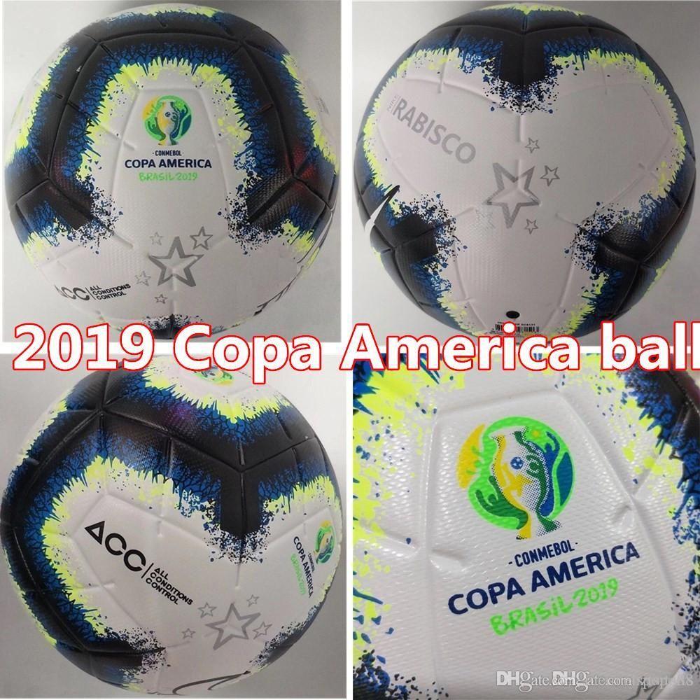 2019 Copa America Fußball Final KYIV PU Größe 5 Größe 4 Kugeln Körnchen rutschfeste Fußball Freies Verschiffen Qualitätskugel