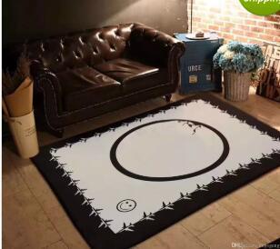 Großhandel Mode Im Europäischen Stil Brandneue Wohnzimmer Teppiche 150 X  200 Cm Rutschfest Schwarz Weiß Flanell Heimtextilien Teppich Von Zcxywl888,  ...