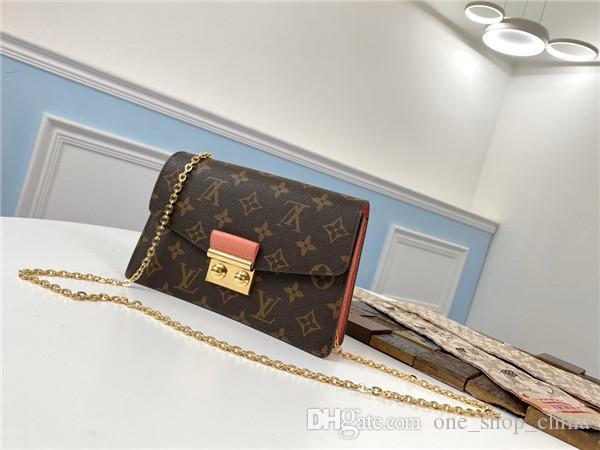 kutu ile S-lock boyutu 21x13.5x5cm damier en kaliteli kadın tasarımcı lüks çanta omuz çantaları Altın zincir cüzdan orignal deri Croisette
