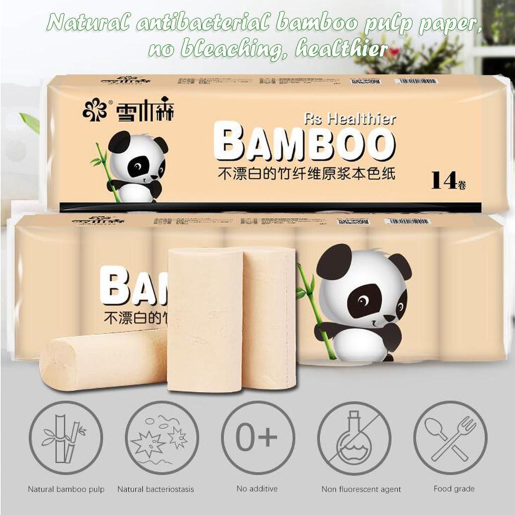 14pcs Rollenpapier-Gewebe-Rollen 4 Schicht verdickte Toilettenpapier Tissue Serviette Papiertücher vorrätig