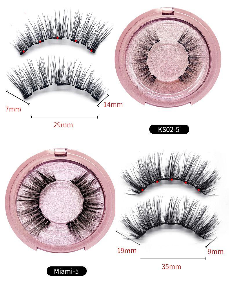 3D Visual Mink Eyelash False Eyelash Estensione impermeabile Minzy Lashes Trucco Maquiagem Eyelashes Eyeliner liquido magnetico 0366009
