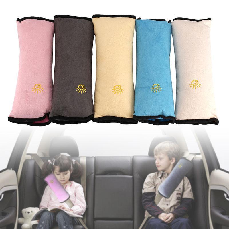 아기 베개 아이 자동차 베개 자동차 안전 좌석 벨트 어깨 쿠션 패드 하네스 보호 지원 베개 키즈 유아