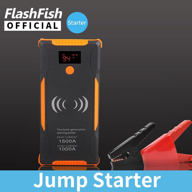 12V 22000mAh Car jump Starter 1500A 400A Power Bank Quick Wireless Charing Emergency Car Jump Starter Battery Power