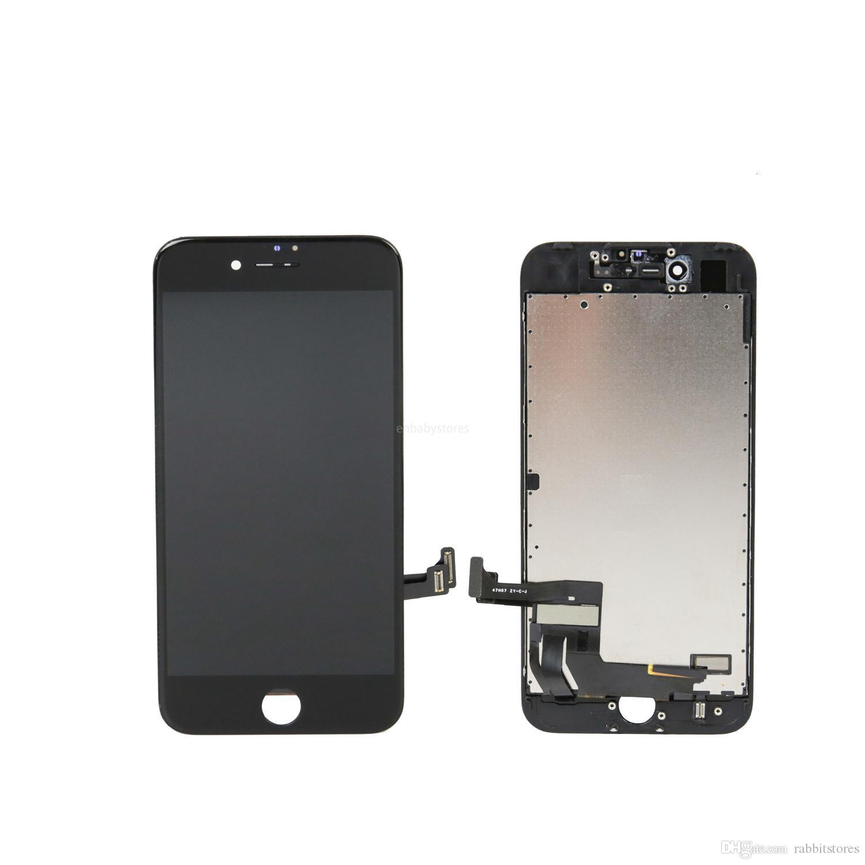 E فون شاشة LCD لمدة 7 - شاشة LCD التي تعمل باللمس استبدال محول الأرقام الجمعية كاملة