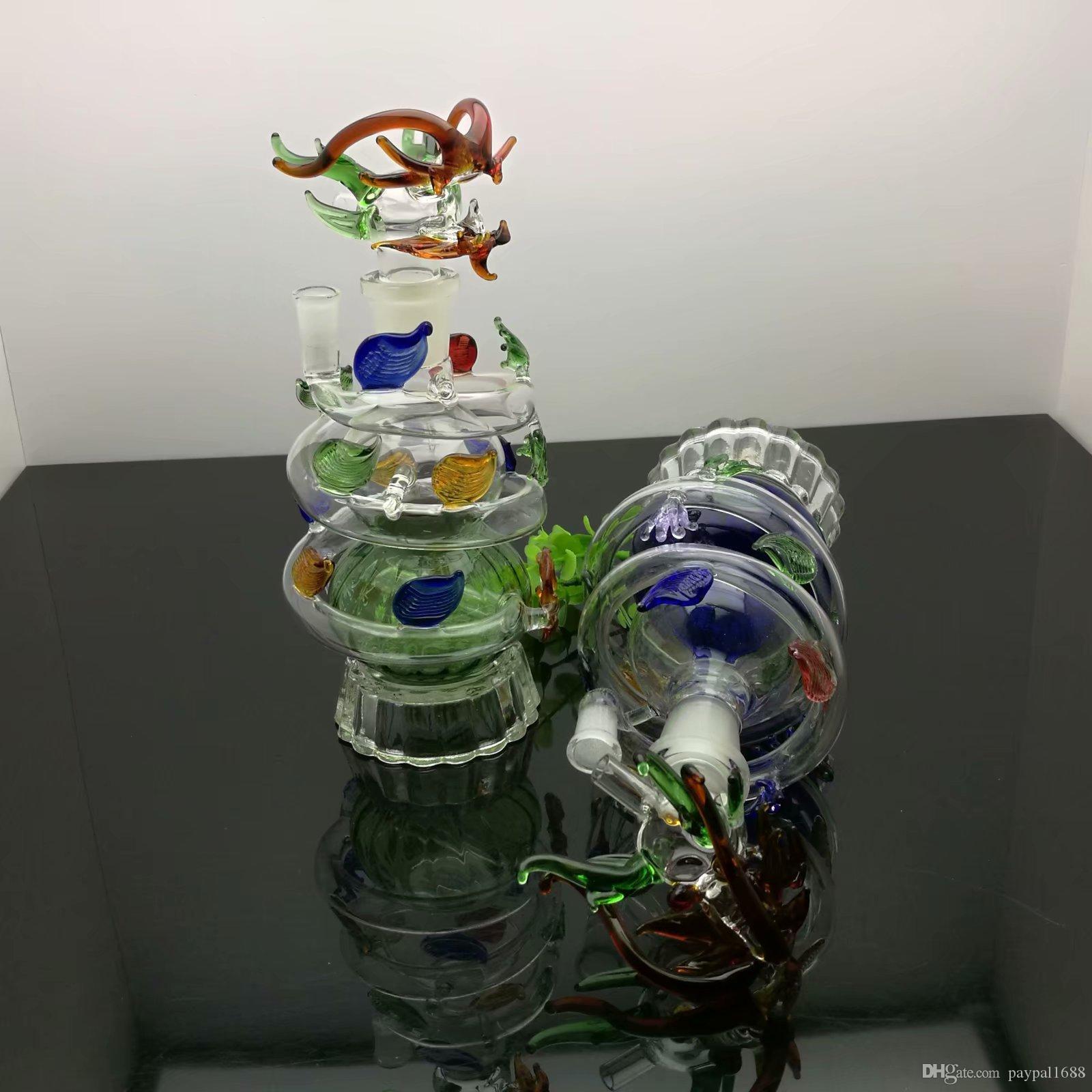 Panlong musluk nargile cam bongs aksesuarları, Cam Sigara Borular renkli mini çok renkler El Borular En Iyi Kaşık glas
