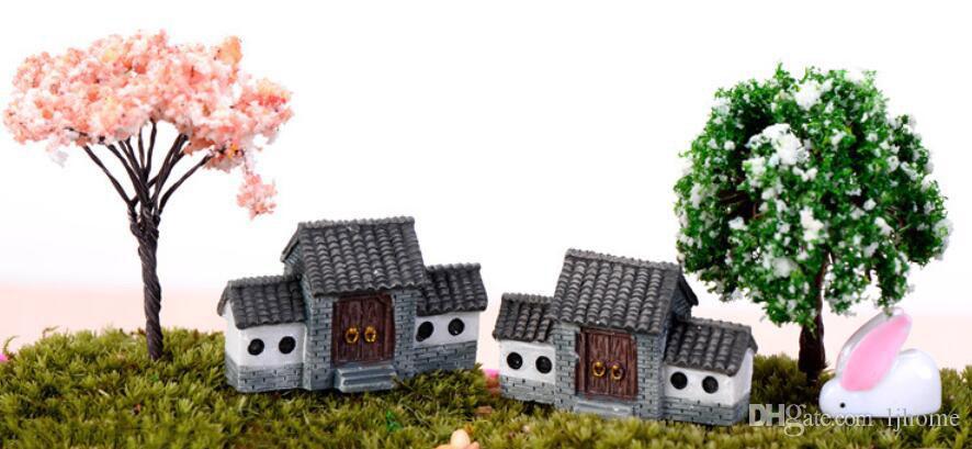 60pcs Miniature Rainbow Fairy Garden Micro Landscape Craft Bonsai Decor