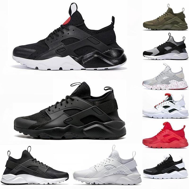 2020 أحذية للرجال Huarache 1S الثلاثي S الأسود الجمرة الاحذية OREO Hurache 4S الذيل العظام الأبيض مصمم أداة الرياضة الخفيفة حذاء رياضة