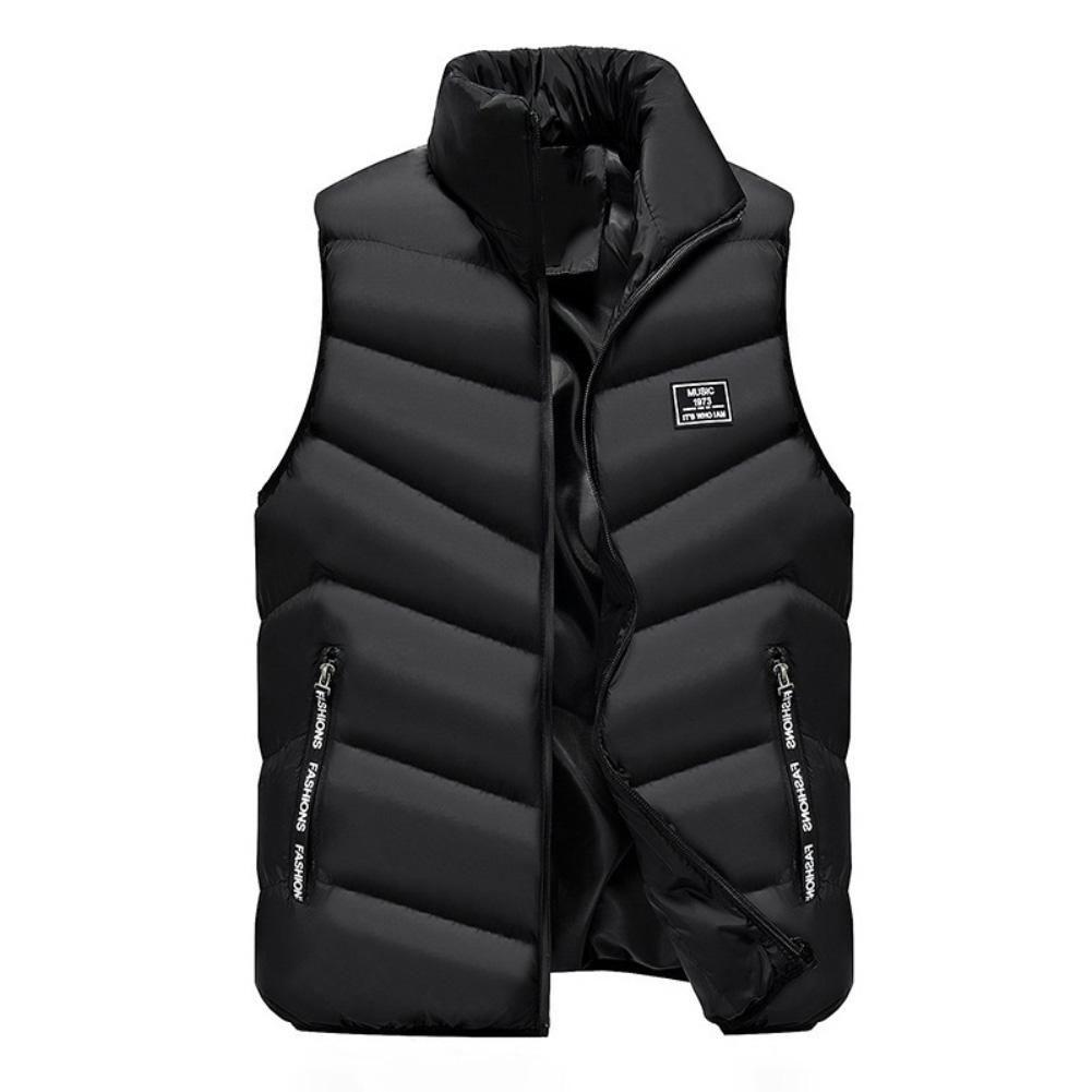 Vest Vest Homens New Elegante 2019 Primavera Outono mangas Quente Jacket Men inverno dos homens Colete Casual Coats Homens Plus Size 5XL