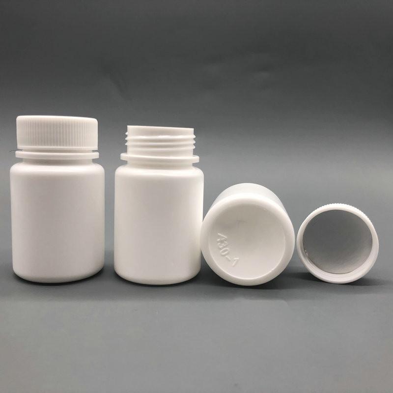 100 + 2PCS 30ML 30G 30CC على نطاق واسع الفم HDPE الأبيض الدوائية فارغة من البلاستيك حبة زجاجة الحاويات البلاستيكية.