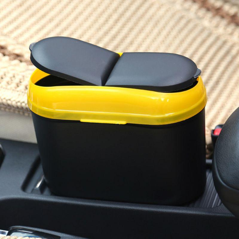 Rubbish Mini Trash Can Garbage Dust Case Holder Box Bin Auto Car Vehicle Home EK