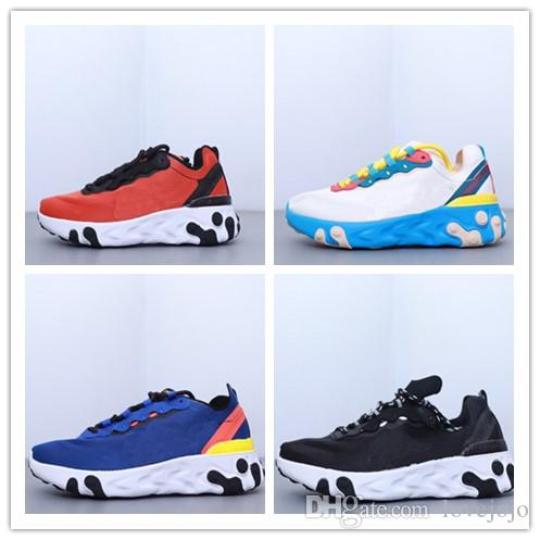 React Element 87 Undercover Kids Running Shoes For Diseñador Sneakers Sports Mens Trainer Shoes Sail Light Bone Royal Tint 28-35