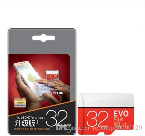 بطاقة ذاكرة مايكرو SD 32GB CLASS10 EVO بالإضافة إلى 64GB 128GB TF بطاقة فلاش USB بطاقة لتسجيل DVR