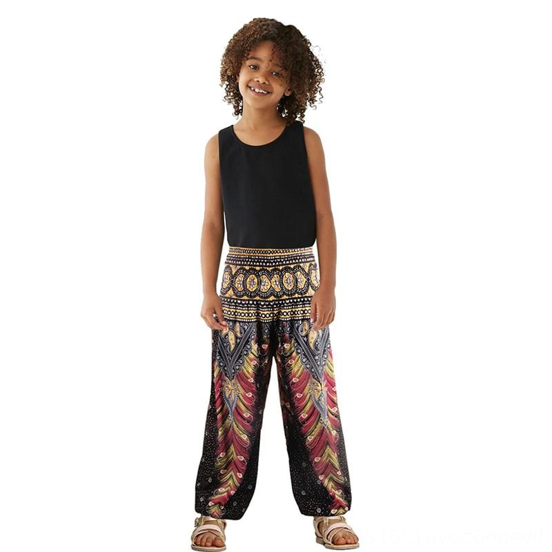 Boys Pants Trousers Toddlers Loose Children Printed Pants Boho Trousers Jogger