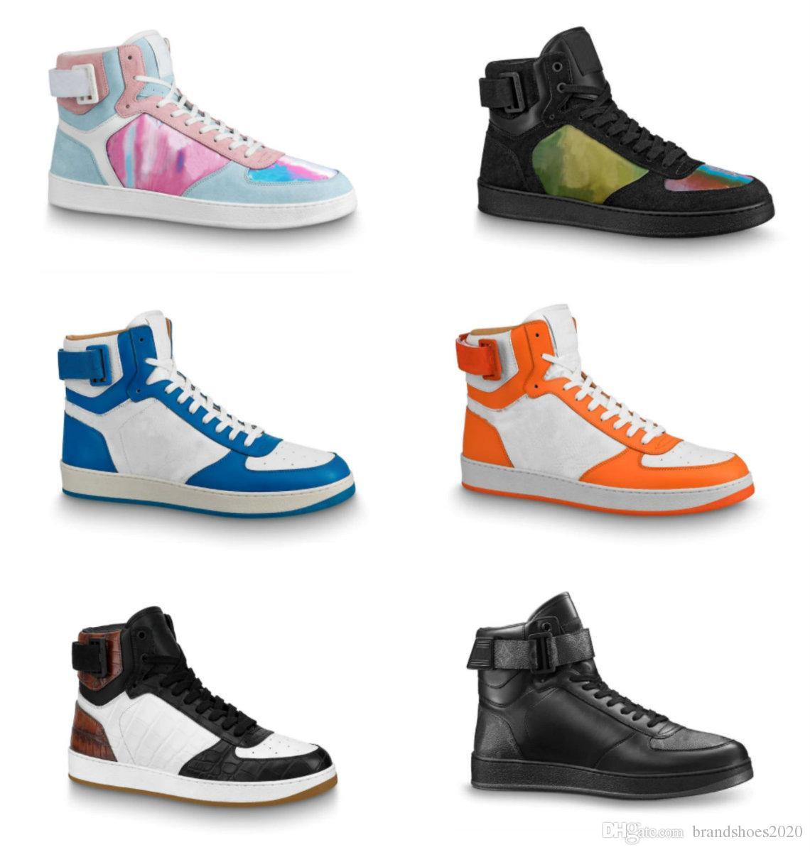 Rivoli Sneaker İkonik Damier Grafit Tuval Mens Koşmak Tasarımcı Ayakkabı Rahat Ayakkabılar vintage gökkuşağı Deri Kanca Ve Döngü Dantel-Up Sneaker