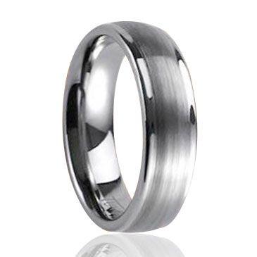Tungsten Carbide High Polish Comfort Fit Half-Round Band Ring