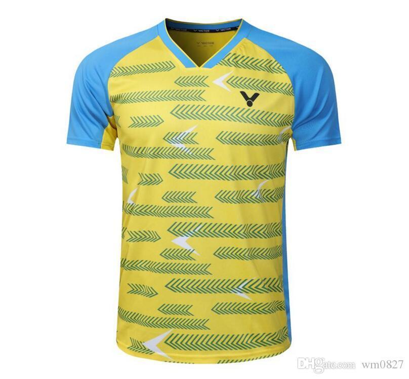 새로운 2019 VICTOR 남성 / 여성 배드민턴 셔츠, 테니스 셔츠 의류, 배드민턴 테니스 저지, 통기성 스포츠 스포츠 테니스 T 셔츠