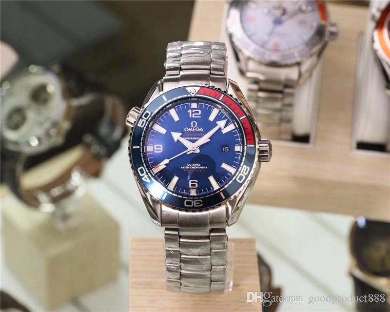 Nueva alta calidad de los hombres del reloj de la función completa totalmente reloj mecánico automático de cerámica bisel del reloj impermeable de los hombres de Wearable