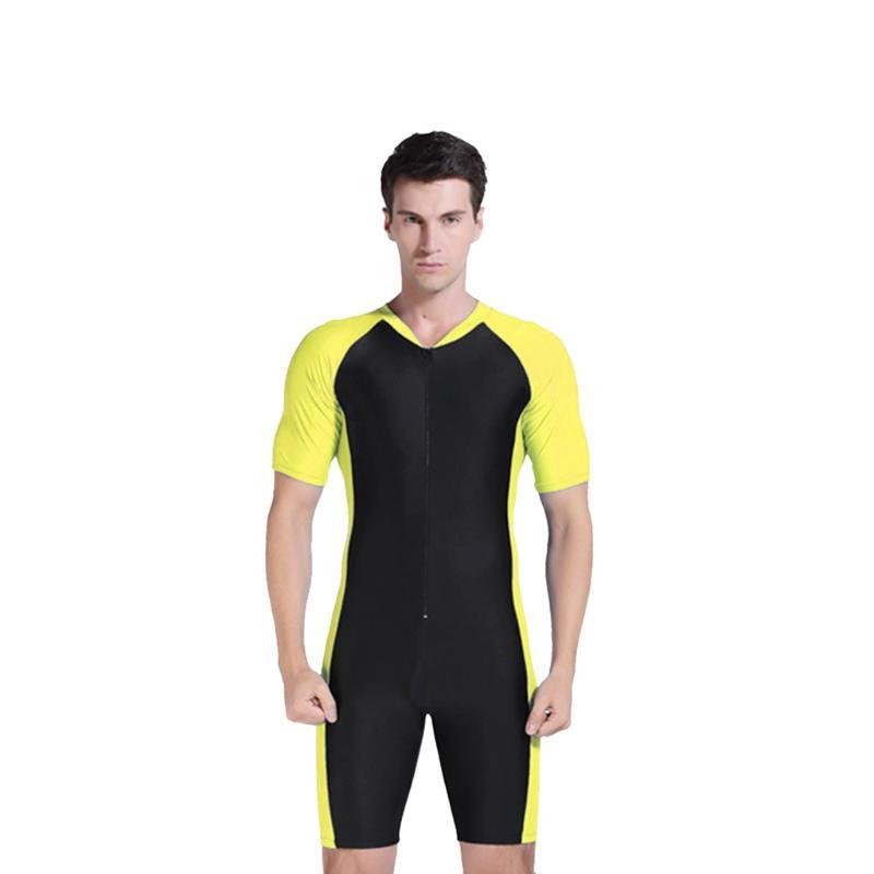 New Selling Surfing Wetsuits For Male Swimwear Man One Piece Short Sleeve 2mm Neoprene Conjoined Diving Suit Thin Wetsuit HOT #F