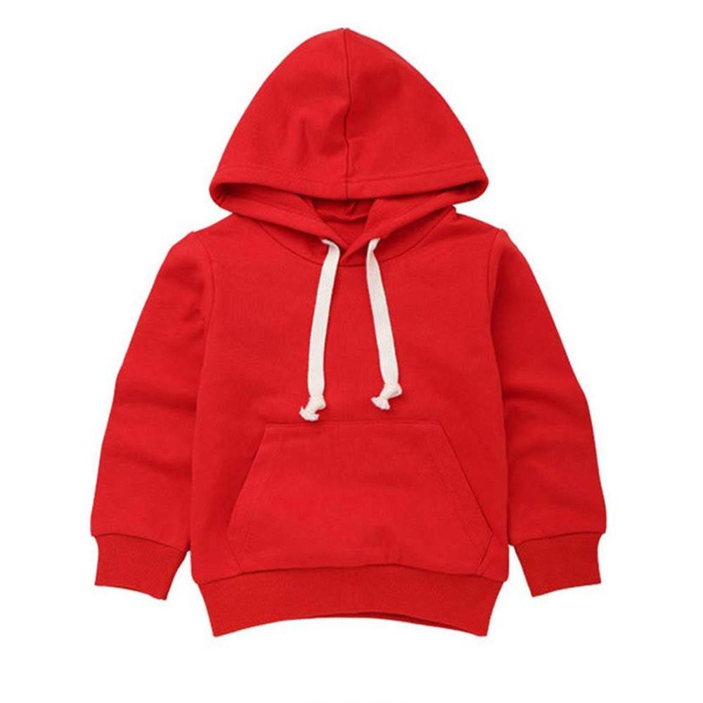 2018Crianças Camisolas Crianças Meninos Meninas Sólidos Bolso Com Capuz Pulôveres Outono Inverno Hoodie Outwear Tops Roupas