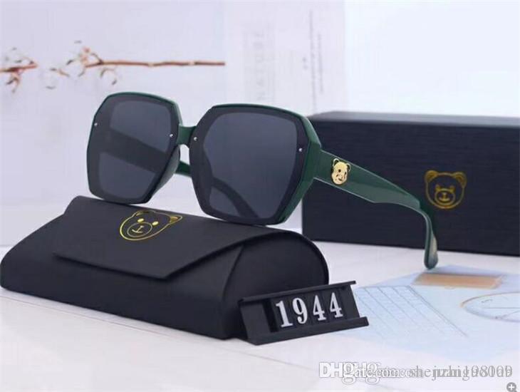 2020 diseñadores de moda de lujo grandes de metal Gafas de sol para las lentes de mujeres de los hombres de cristal UV Protection 076