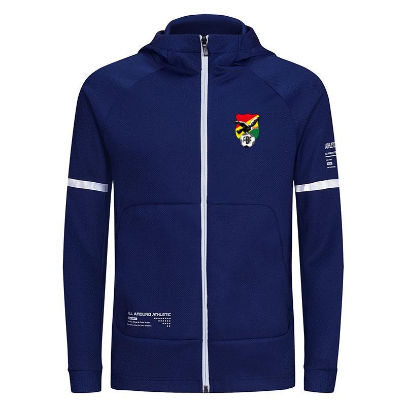 Bolívia 2020 jaquetas masculinas de outono e inverno de futebol esportes, executando jaquetas masculinas casuais, cor costura contrastante jaquetas masculinas de design