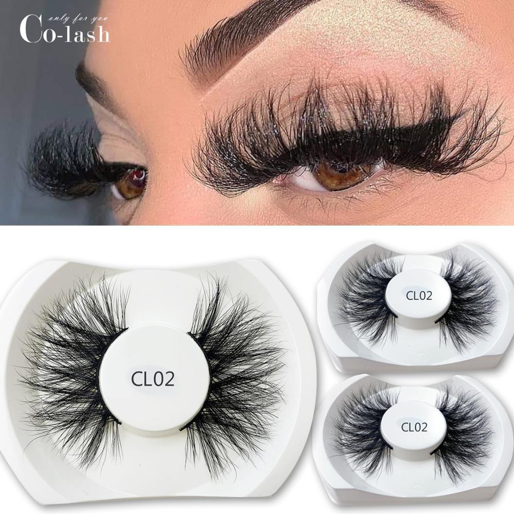 100% 25mm Mink Eyelashes False Eyelashes Crisscross Natural Fake lashes Makeup 3D Mink Lashes Extension Eyelash100% 25mm Mink Eyelashes Fals