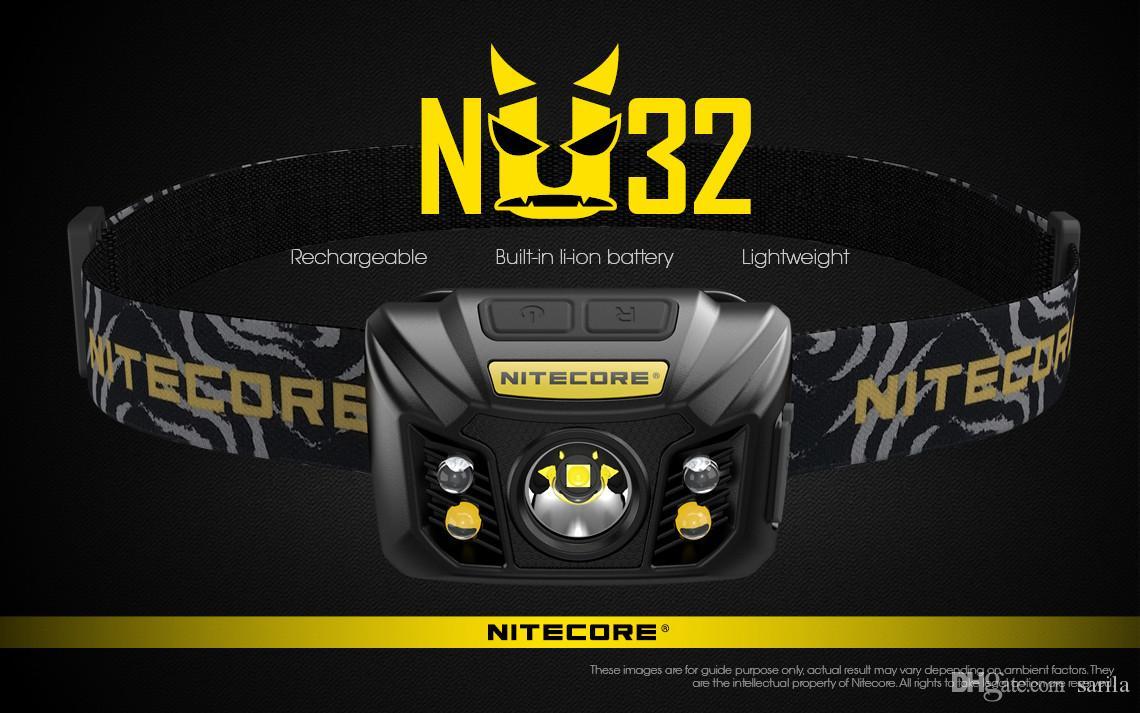 Nitecore Headlamp NU32 CREE XP-G3 S3 LED 550 Lumens High Performance Rechargeable Headlamp Built-in Li-ion Battery