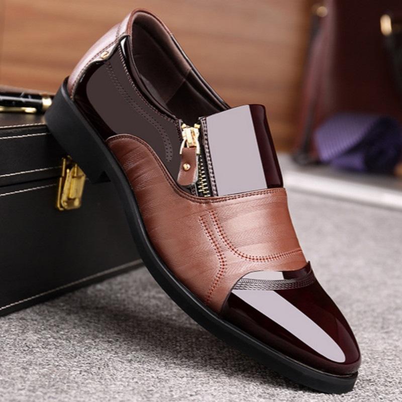 Топ большого качество размера мужчину мужчина свадебного платье Hombre Ьотта Zapatos низкого блок каблуки формальной случайный бизнес кожа Оксфорд обувь