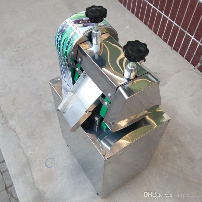 Taşınabilir Şeker Kamışı Meyve sıkacağı Makinası / Paslanmaz Çelik Manuel Şeker kamışı Sıkacağı Kırıcı Ticari Şeker kamışı Meyve Sıkacağı 220V