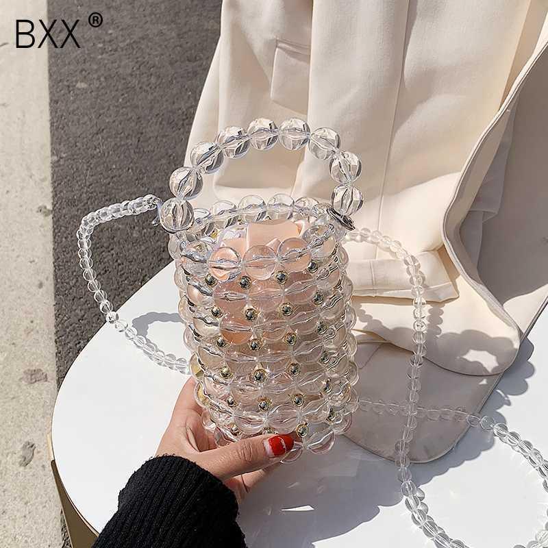 [] BXX 2020 perla di lusso del sacchetto per le donne Chic fatti a mano perline Evening Clutch borse e borsa delle signore Messenger Borse Cena HL701