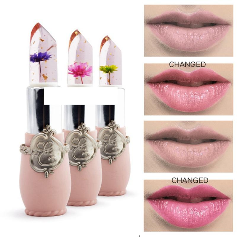 2019 Transparent Changing Lip Professional Matte Lipstick Flower Lipstick Color Jelly Cosmetic Wholesale