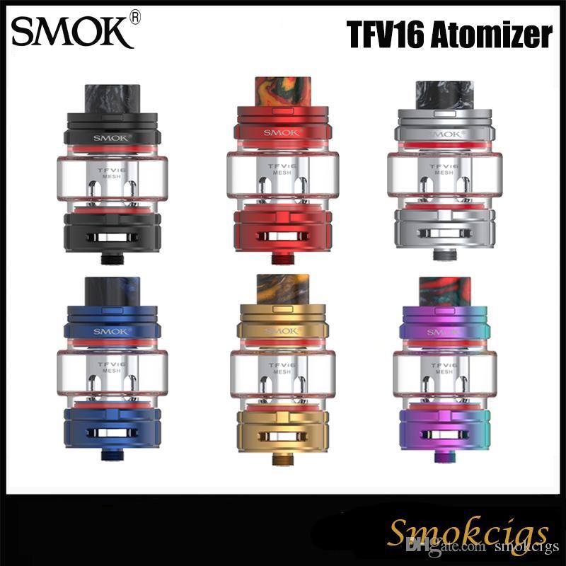 Authentic SMOK TFV16 Tank 9ML Huge e-juice Capacity Top Refilling TFV16 Mesh Coil 0.17ohm & Dual Mesh Coil 0.12ohm VS TFV12 PRINCE
