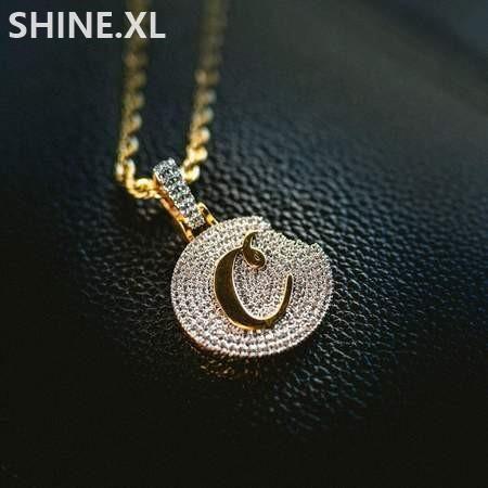 Iced Out Булочки ожерелье Micro Асфальтовая Циркон Gold Silver Plated с нержавеющей стальной канат цепи