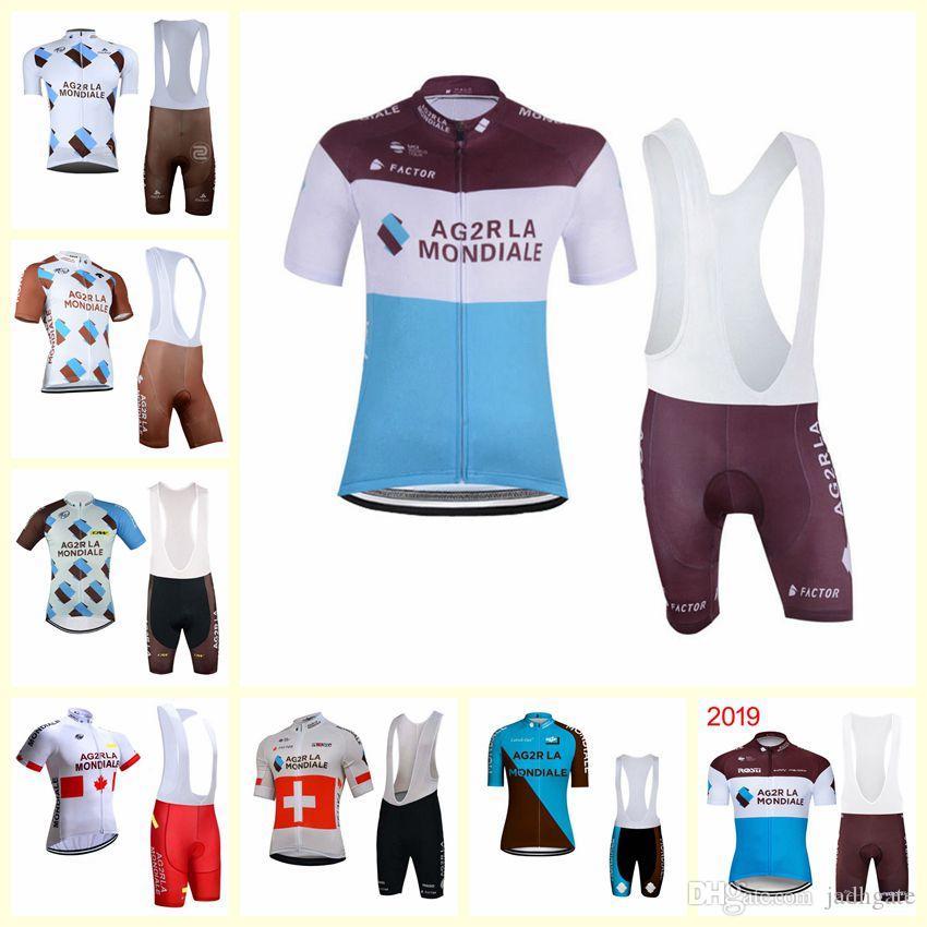 2020 AG2R squadra ciclismo maniche corte jersey shorts Set Bike Abbigliamento Quick-Dry Bicicletta Sportwear Ropa Ciclismo U20041601