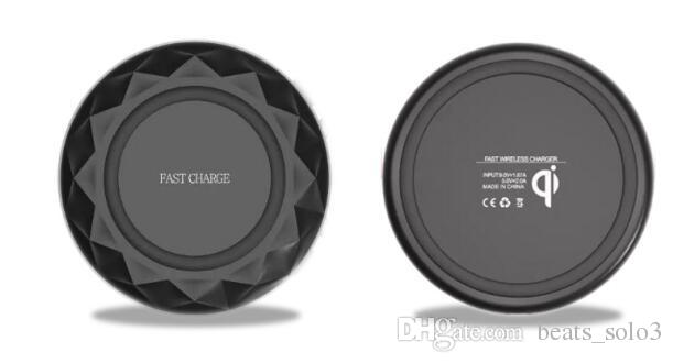 Per iphone 8 X Qi caricabatterie wireless veloce pad Diamonds Ultrathin con LED Light con cavo USB per Samsung S6 S7 Edge S8 Note5 8
