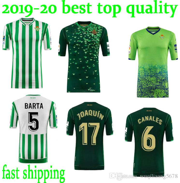 2020 2018 19 Real Betis Home Joaquin 17 Bartra 5 Tello 11 Home Thailand Quality Soccer Jersey Football Shirt Kit Camiseta Futbol Maillot De Foot From Wuqiliaang5678 16 24 Dhgate Com