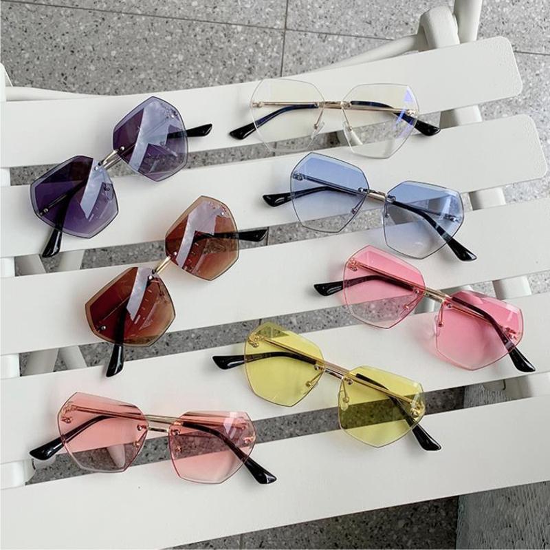 Occhiali da sole Occhiali da sole Girls Girls Sun 7 Shades Baby Modo Eyewear Boys Boys Luxury Kids UV400 Polygon Colors Bambini DW5342 TUDDC