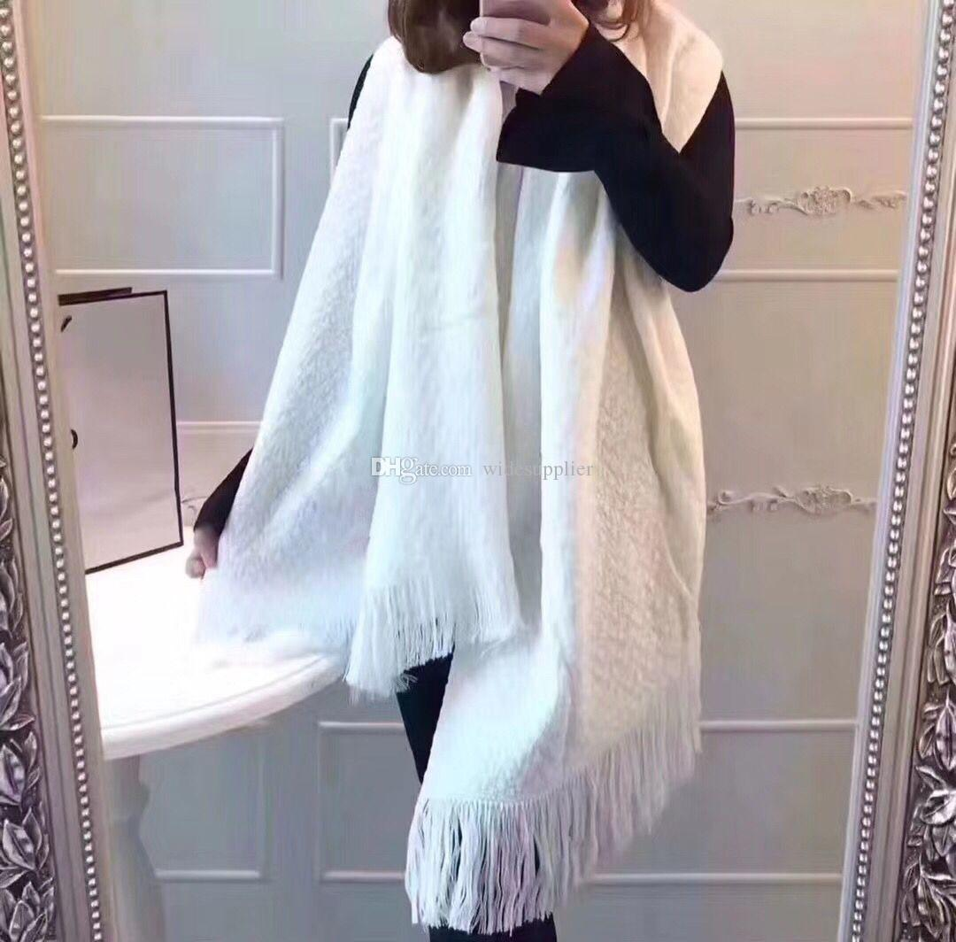 180*70cm Lovely Classic Luxury Designer Scarf Winter Warm Oversized Scarves Winter Scarves with Tassels Shawl High Quality