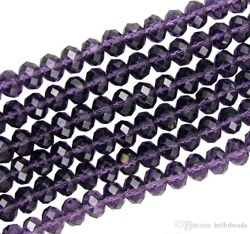 500pcs/LOT Top Quality Violet 4 SIZES #5040 RONDELLE Wheel glass crystal beads DIY JEWELRY MAKING
