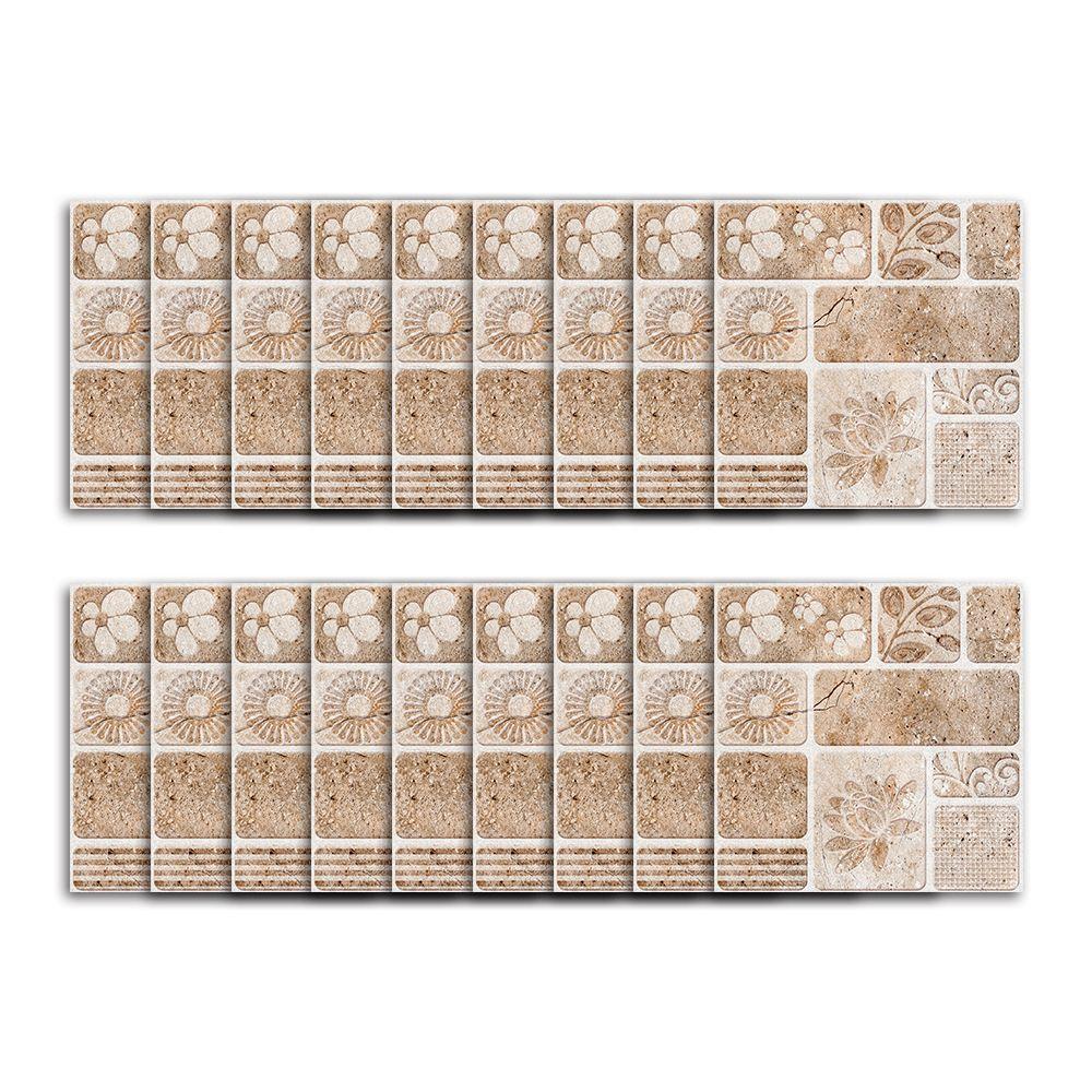 18PCS 북유럽 스타일 광장은 다채로운 모자이크 방수 스틱 벽 아트 욕실 카페 거실 타일 스티커 벽 스티커를 바둑판 식으로 배열