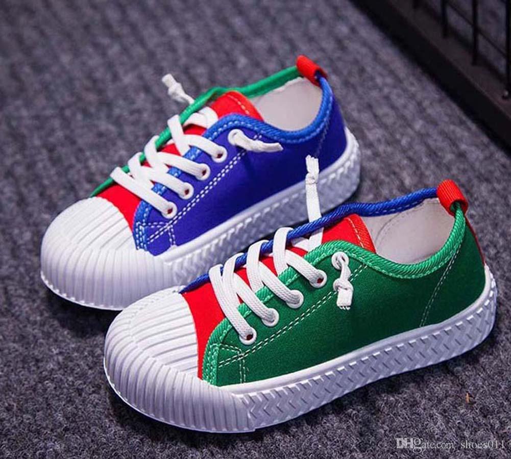 Top Quality clássico Sneaker Chaussures enfants Moda inteligente chaussures ar sapatos de couro plataforma crianças triplos sapatos shoes011 PX295