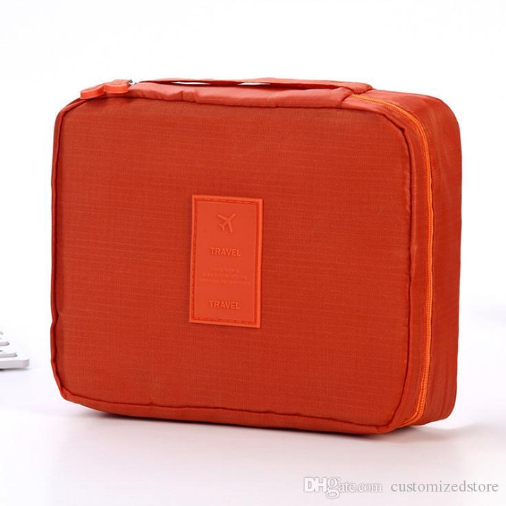 Multi-fonction Sac étanche cosmétique de maquillage avec poignée confortable sac de rangement poche intérieure Voyage Sac de toilette