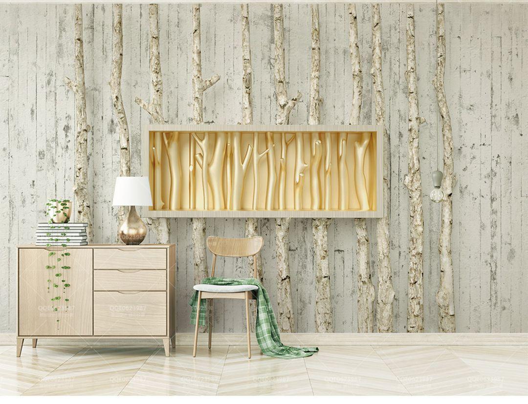 Camera Letto Carta Parati acquista carta da parati personalizzata albero di legno dorato albero di  rilievo dorato soggiorno creativo sfondo camera da letto decorazione pareti