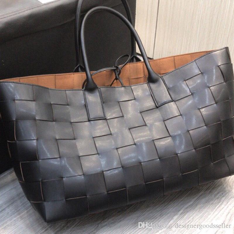 2020 Марк модельер сумки женщин сумки натуральной кожи плетение тотализатор негабаритных сумки роскошных сумки доставка сумка бренд композитной сумка