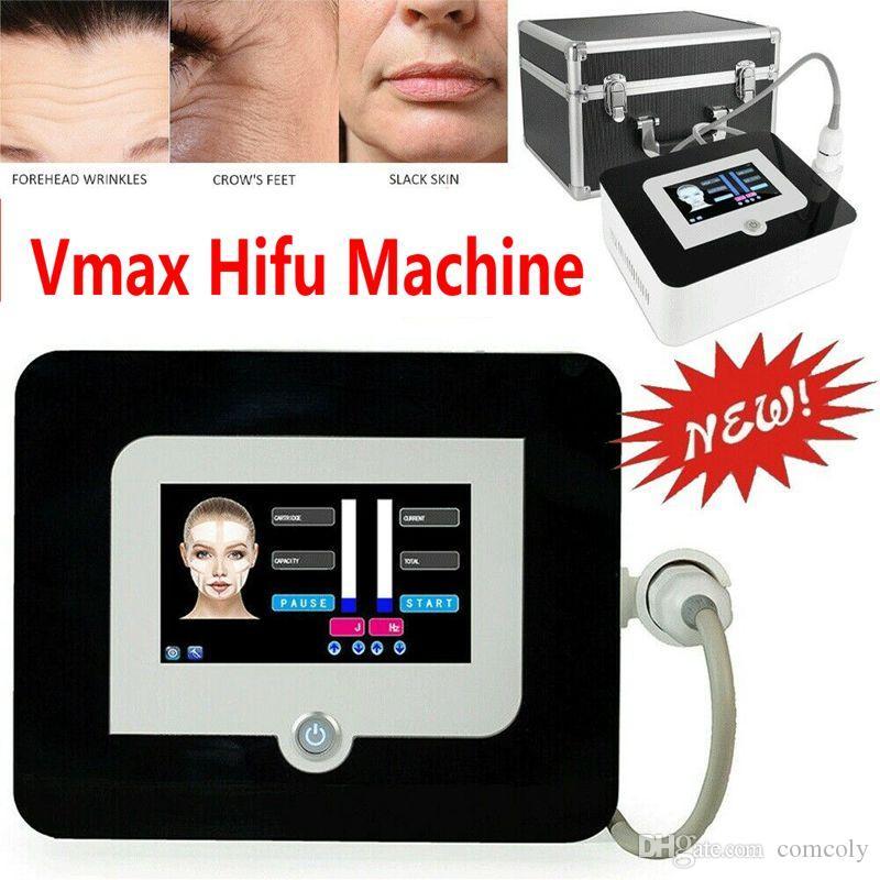 Yüksek Yoğunluklu Odaklı Ultrason Anti Aging Kırışıklık Kaldırma Yüz Germe Vmax HIFU Makinesi 3 Kartuşlu DHL