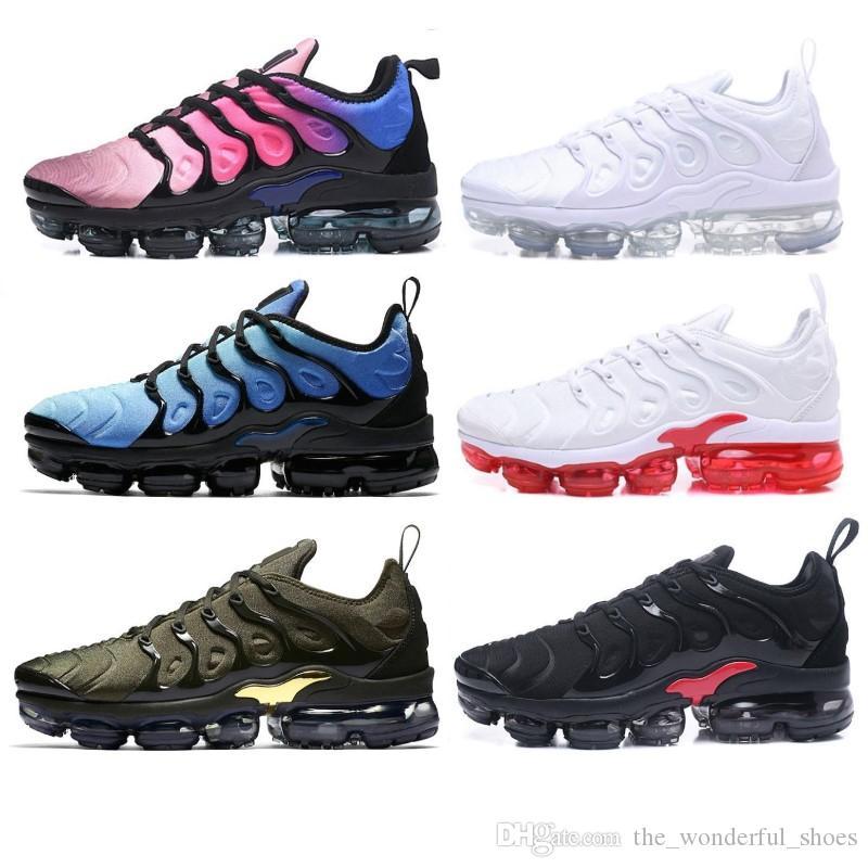 Top des femmes des hommes à bas prix Chaussures arc-en-Vert TN Ultra Sports Réquin Sneakers air Caushion Chaussures de course 36-46