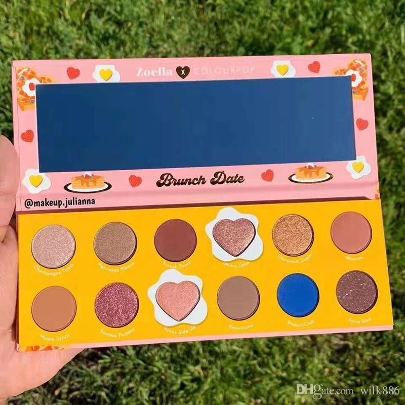 2019 Più nuovo Colourpop x Zoella Cooperation Makeup Eyeshadow BRUNCH DATE 12 colori Pressed Powder Palette Eye Shadow
