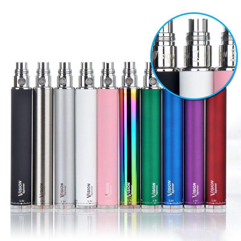 Vision Spinner elektronische Zigarette Ego c Twist 3.3-4.8V Variable Spannung VV Batterie 650 900 1100 1300mAh ecigs Ego Batterie
