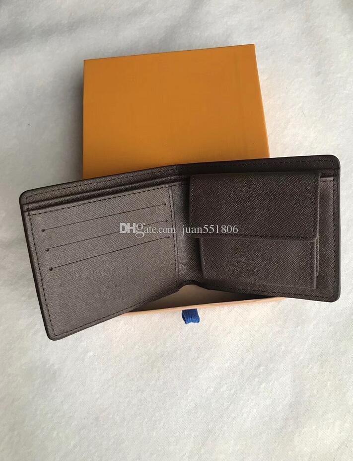 6 cores marca carteira de couro curto carteira carteira dos homens do desenhador com a caixa, quadro saco de pó manual de uma variedade de estilos de 2020