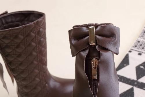 Compre Bota De Piel Para Niña, Negro, Marrón, Colores, Niño, Botas Clásicas, Invierno Cálido, Bota Para La Nieve, EU 26 37, Diseño Sólido, Cuero